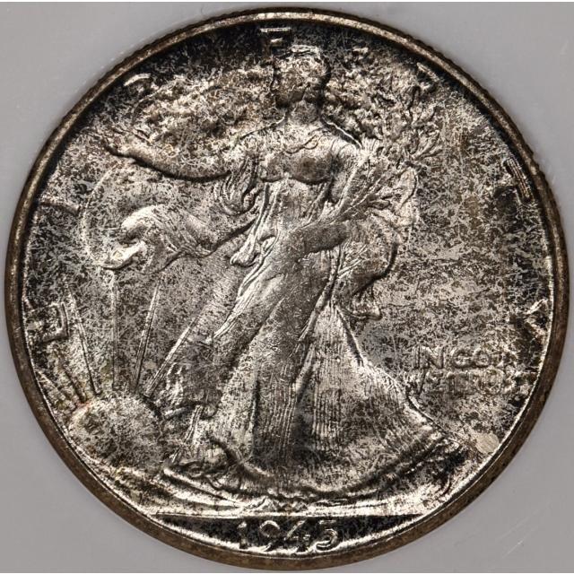 1945-S Walking Liberty Half Dollar Perfect Fatty NGC MS64