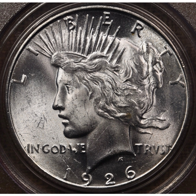 1926-S Peace Dollar PCGS MS64 OGH CAC