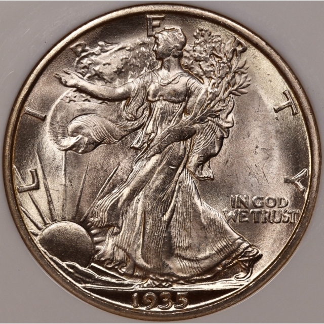 1935-S Walking Liberty Half Dollar NGC MS63 CAC