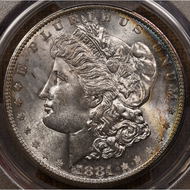 1881-S Morgan Dollar PCGS MS66, beautiful reverse rainbow