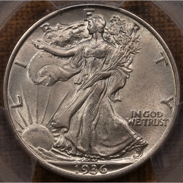 1936 Walking Liberty Half Dollar PCGS MS63, PQ+