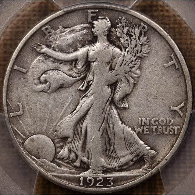 1923-S Walking Liberty Half Dollar PCGS VF30 CAC