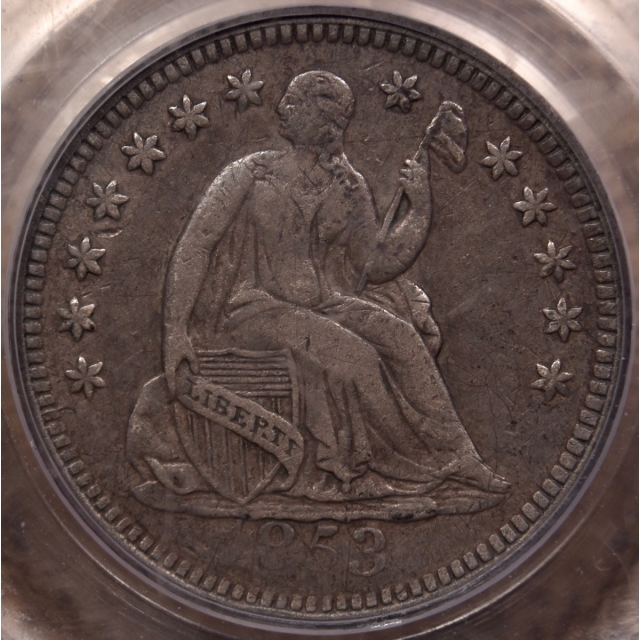 1853-O No Arrows Liberty Seated Half Dime PCGS VF30 CAC