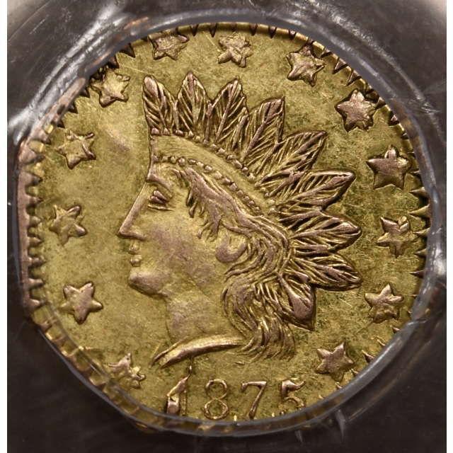 1875 BG-948 Octagonal California Fractional Gold 50c PCGS MS62