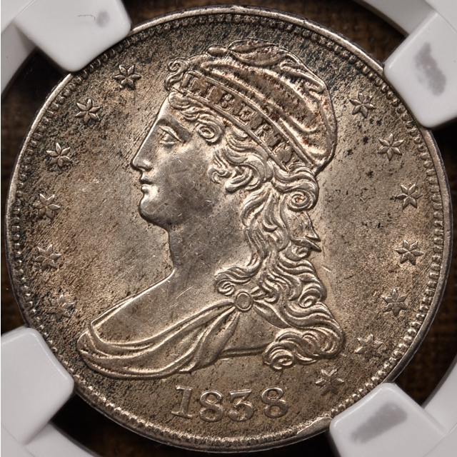 1838 GR-14 Capped Bust Half Dollar NGC MS61, Plate Coin From the Dick Graham Reference Collection