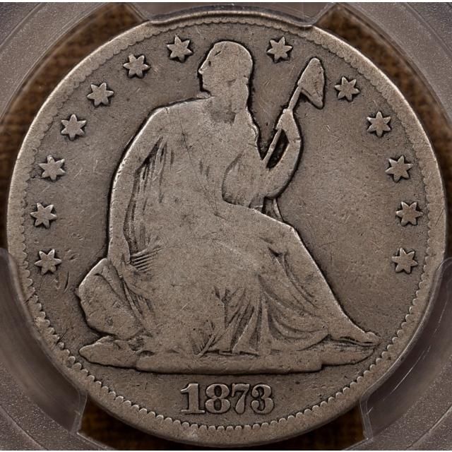 1873-CC WB-1 No Arrows Liberty Seated Half Dollar PCGS VG8