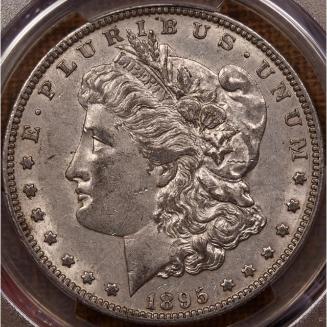 1895-O Morgan Dollar PCGS AU55 CAC, NE Hoard