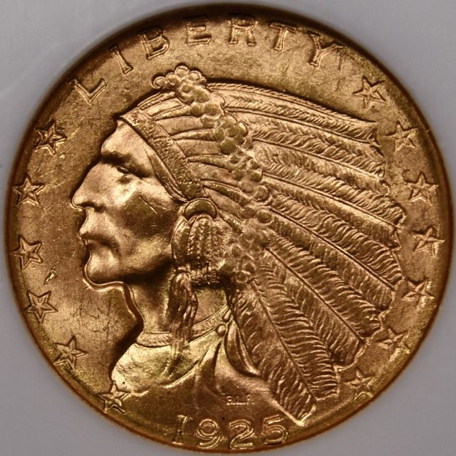 1925-D Indian Quarter Eagle $2.50 NGC MS64 CAC