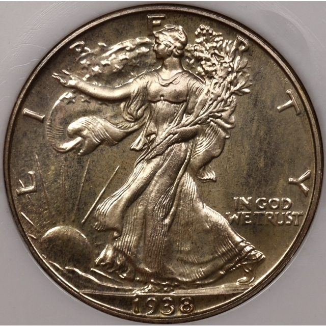 1938 Proof Walking Liberty Half Dollar NGC PR65 Fatty CAC