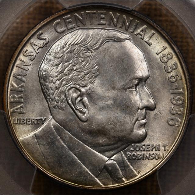 1936 Robinson Silver Commemorative PCGS MS65