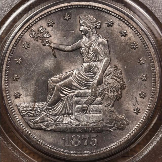 1875-S Trade Dollar PCGS MS62 OGH