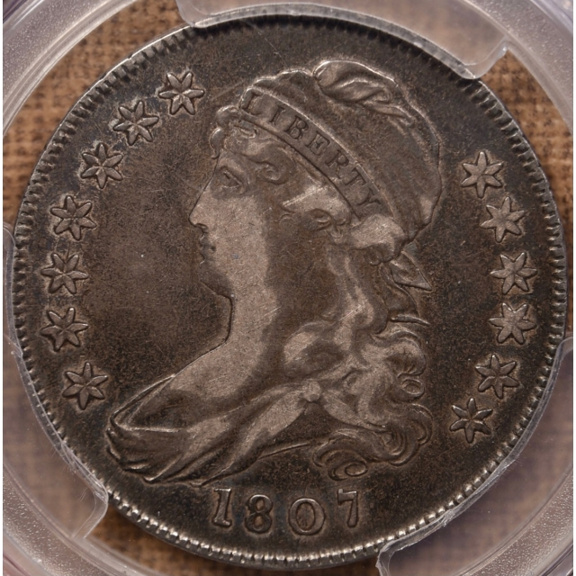 1807 O.113a Small Stars Capped Bust Half Dollar PCGS VF25 CAC