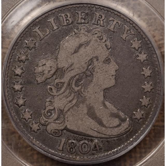 1804 B.1 Draped Bust Quarter PCGS F15 CAC