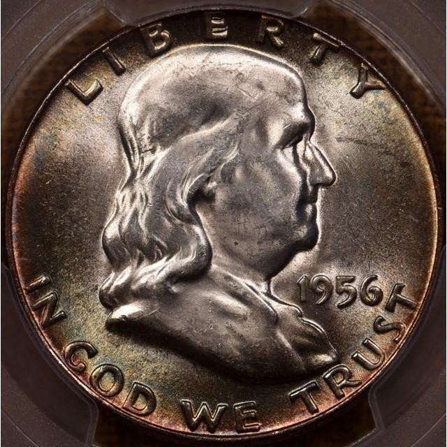 1956 Franklin Half Dollar PCGS MS65 FBL