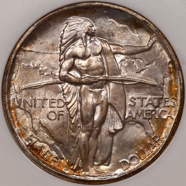 1937-D Oregon Silver Commemorative NGC MS66 GOLD CAC