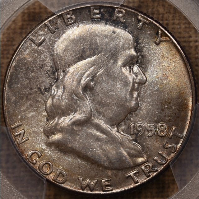 """1958 Franklin Half Dollar PCGS MS66, from the """"Mint Set Deal"""""""
