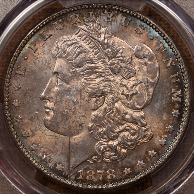 1878-S Morgan Dollar PCGS MS63, great toning