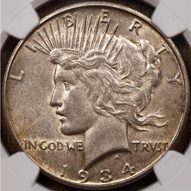 1934-S Peace Dollar NGC AU55 CAC