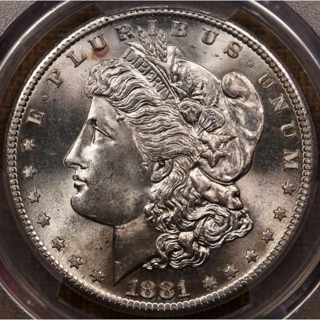 1881-S Morgan Dollar PCGS MS65, 65+ on most days