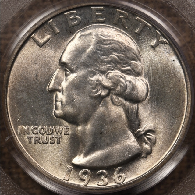 1936 Washington Quarter PCGS MS66