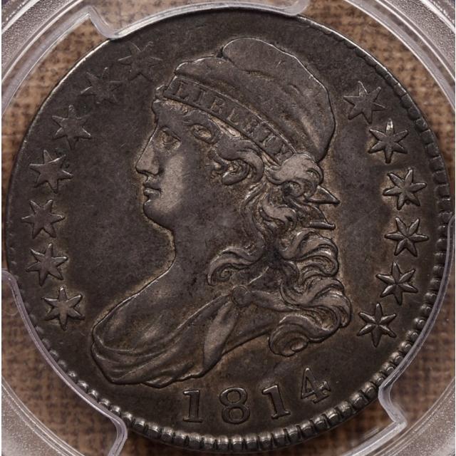1814 O.104' R? Capped Bust Half Dollar PCGS VF35 CAC
