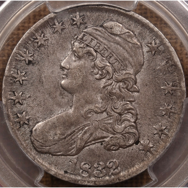 1832 O.113a Small Letters Capped Bust Half Dollar PCGS AU55 CAC