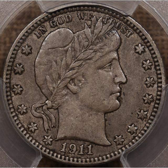 1911-D Barber Quarter PCGS AU50 CAC
