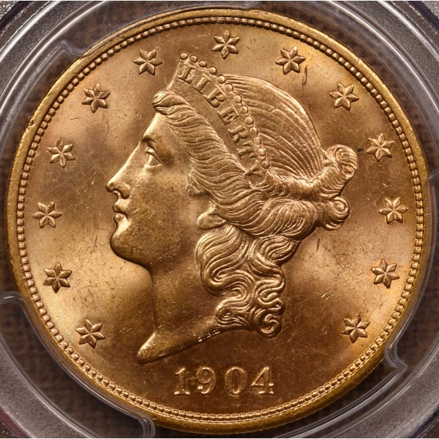 1904 $20 Liberty Head Double Eagle PCGS MS65+ CAC