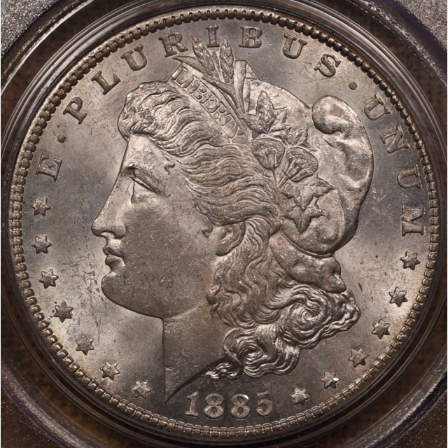 1885-CC Morgan Dollar PCGS MS63 OGH CAC