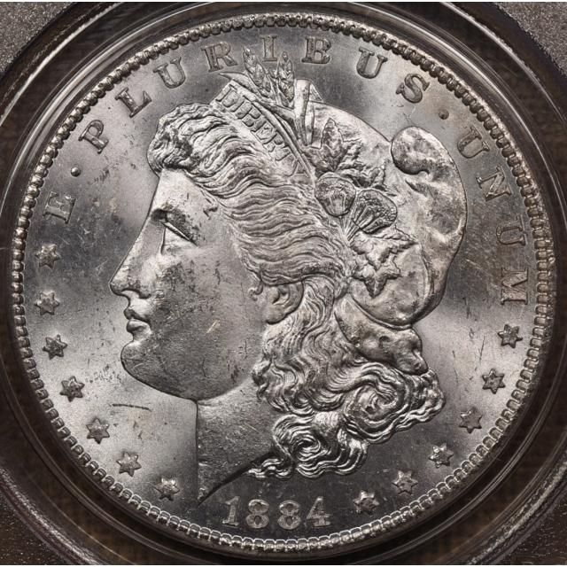 1884-CC Morgan Dollar PCGS MS63 OGH