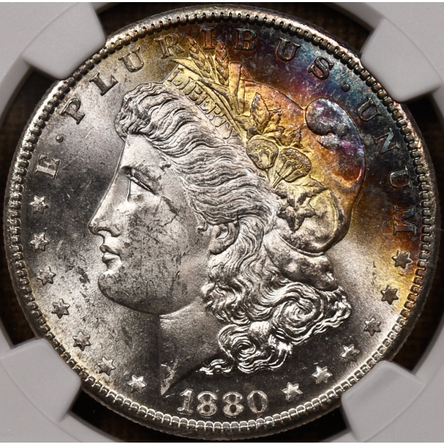 1880-S Morgan Dollar NGC MS64*