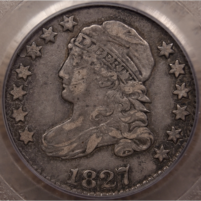 1827/7 JR-1 Capped Bust Dime PCGS VF35 CAC