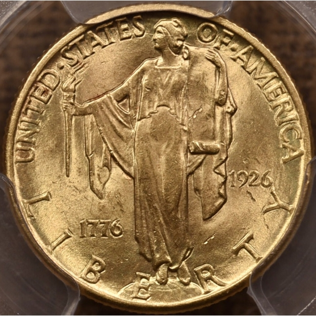 1926 Sesquicentennial $2.50 Gold Commemorative PCGS MS64+ CAC