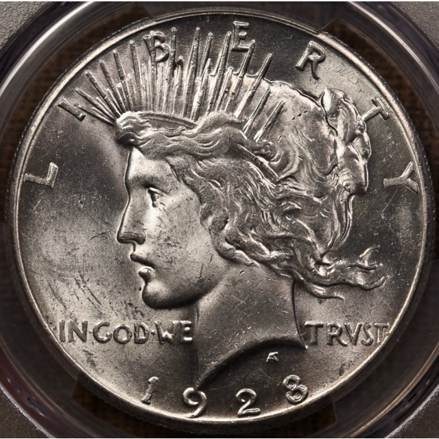 1928 Peace Dollar PCGS MS62 CAC