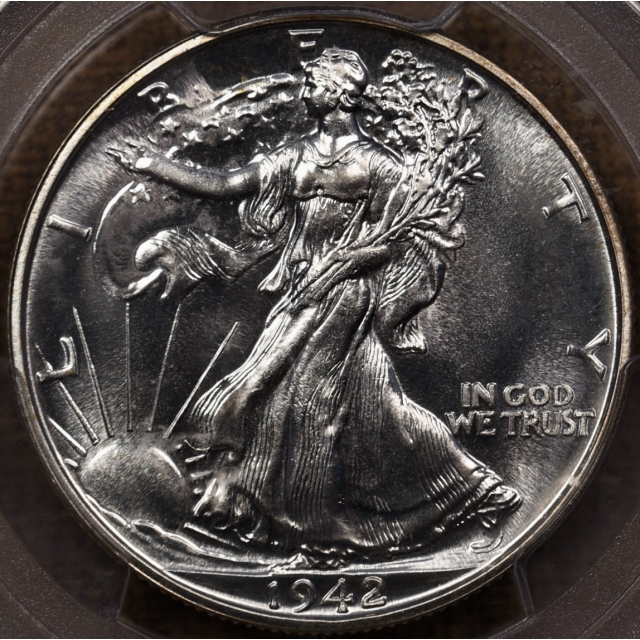 1942 Proof Walking Liberty Half Dollar PCGS PR67+ CAC