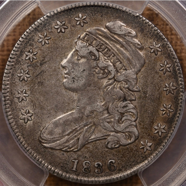 1836 O.101a Capped Bust Half Dollar PCGS XF40