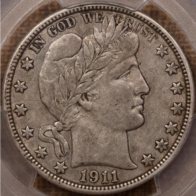1911 Barber Half Dollar PCGS VF30 CAC