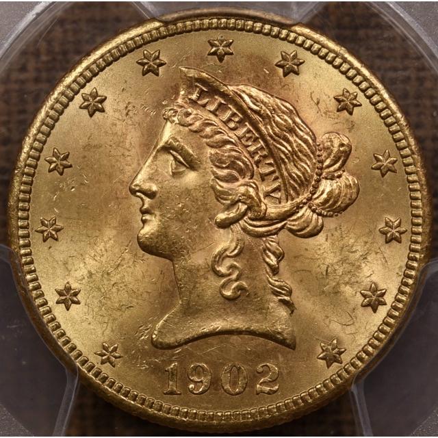 1902-S $10 Liberty Head Eagle PCGS MS63 CAC