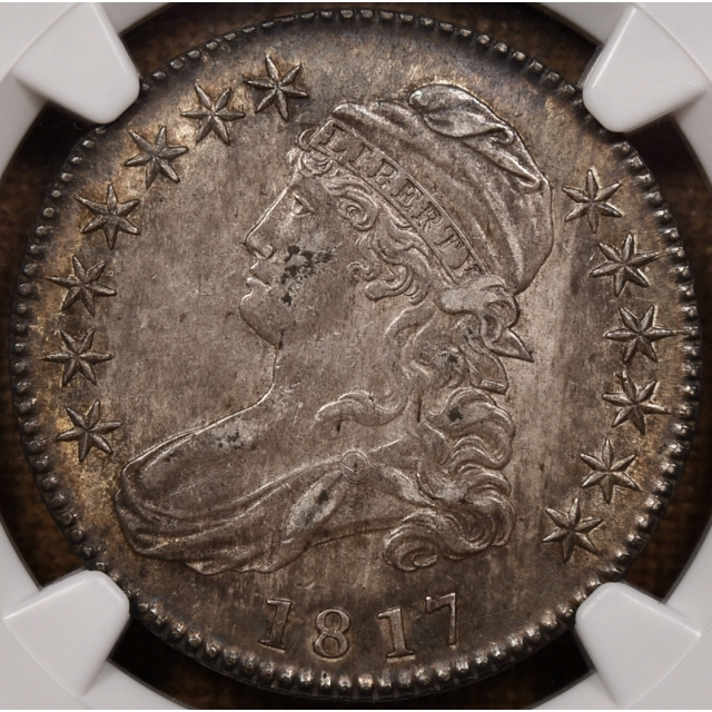 "1817 O.103""b"" R6? Capped Bust Half Dollar NGC AU50 CAC"