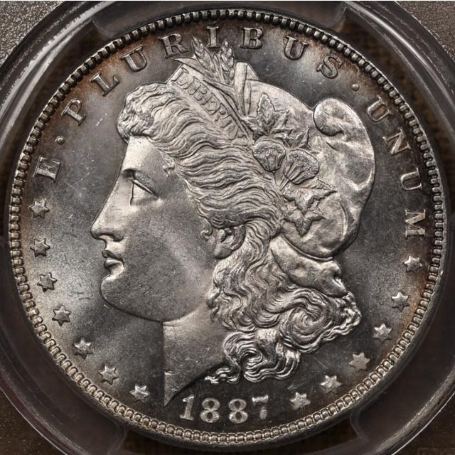 1887 Morgan Dollar PCGS MS65 PL CAC