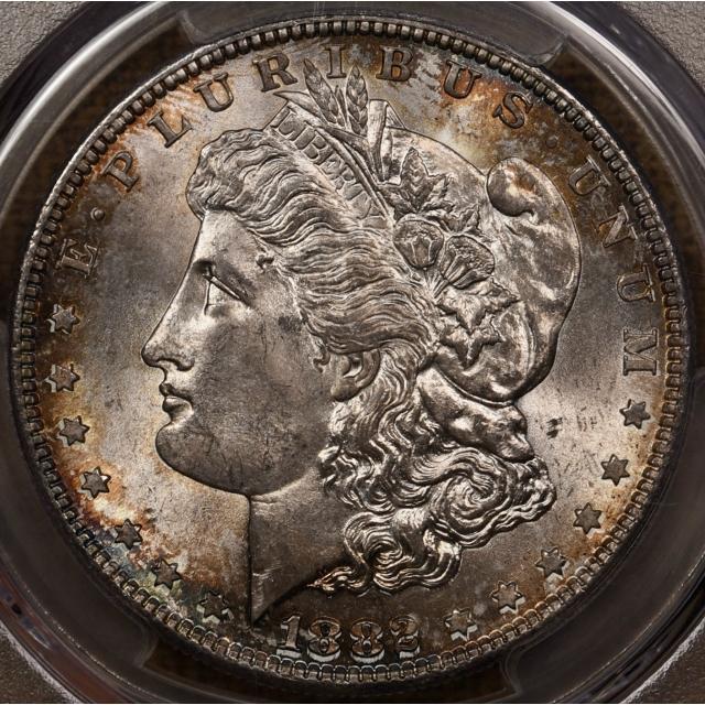 1882-S Morgan Dollar PCGS MS66 CAC, outrageous color!