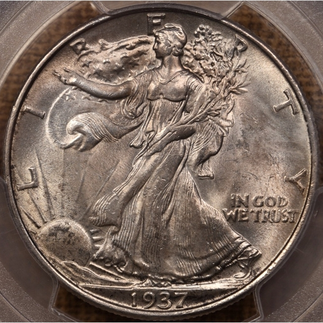 1937 Walking Liberty Half Dollar PCGS MS64, with 1986 ANACS Photo Cert