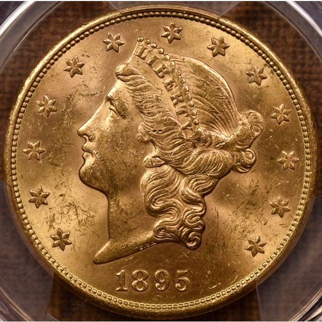 1895-S $20 Liberty Head Double Eagle PCGS MS62