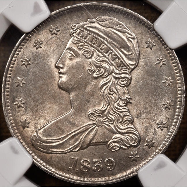 1839 GR-7 Capped Bust Half Dollar NGC MS61, From the Dick Graham Reference Collection