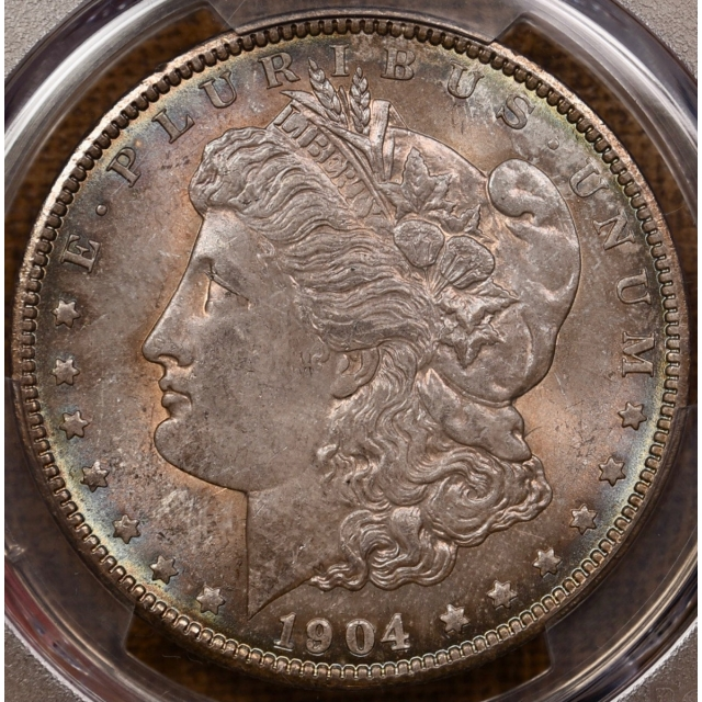 1904-O Morgan Dollar PCGS MS65, beautiful toning