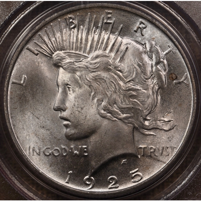 1925 Peace Dollar PCGS MS65 OGH