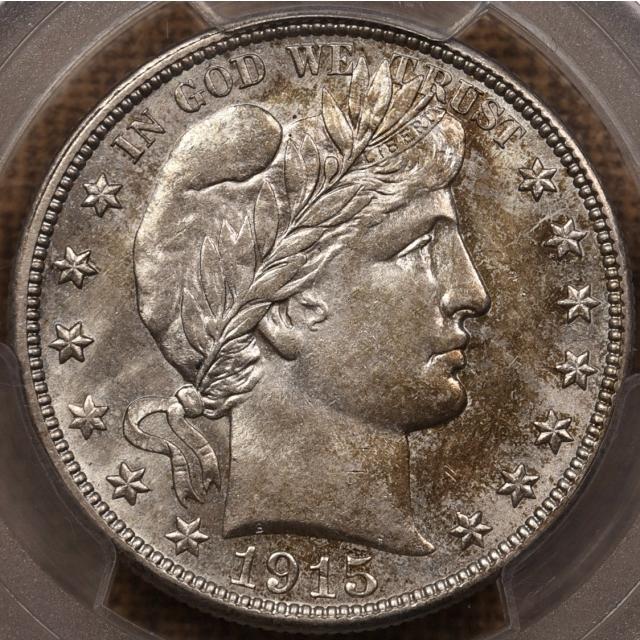 1915-S Barber Half Dollar PCGS MS62 CAC
