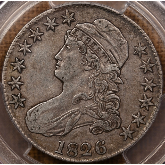 1826 O.120a R4- Capped Bust Half Dollar PCGS VF35