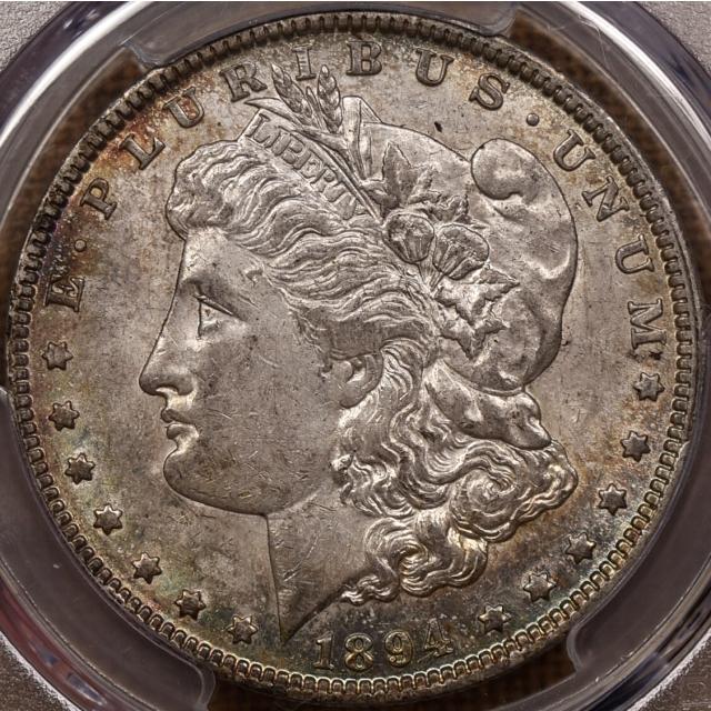 1894-O Morgan Dollar PCGS AU58, stunning!