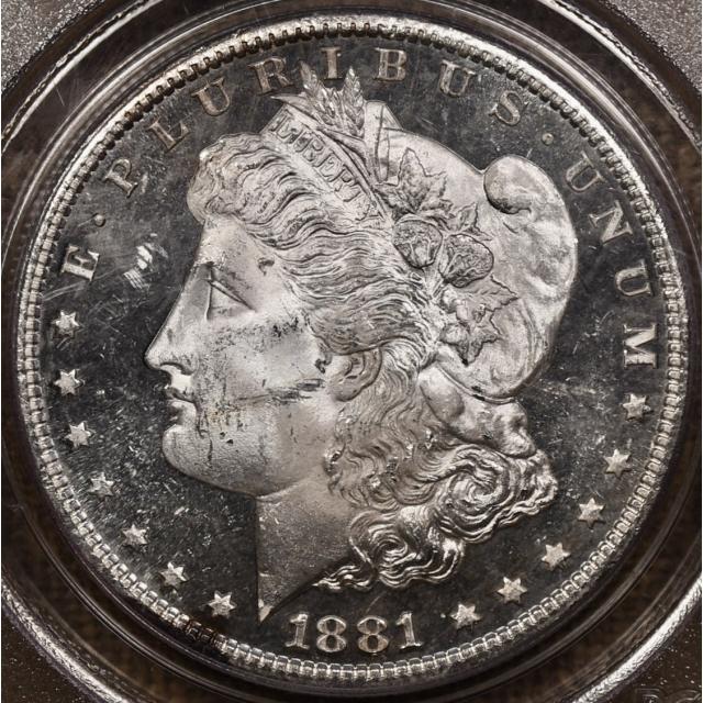 1881-S Morgan Dollar PCGS MS63 PL OGH CAC...DMPL!